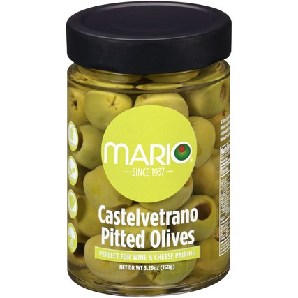 Castelvetrano Pitted Olives 5.29 oz. Jar